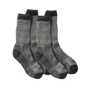 L.L. Bean Men's 2-Pair Hiker Socks XL, No Fly Zone